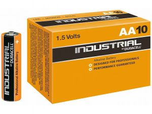 10 piles alcalines AA LR6 Duracell Industrial