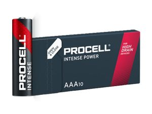 10 piles alcalines AAA LR03 Procell Intense Power